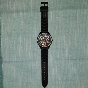 Geneva Stainless Steel Jeweled Watch